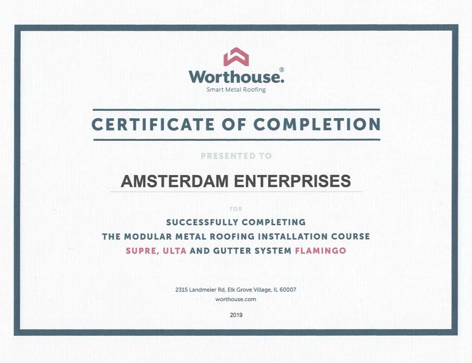 Worthouse-Certificate-of-Completion-Chicago